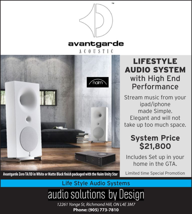 Lifestyle Audio System with High End Performance